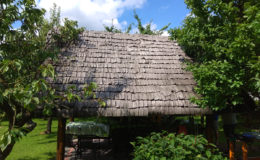 dach z gontów drewnianych